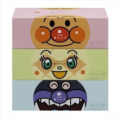 ネピア アンパンマン 鼻セレブティシュ3コパック (360枚180組)