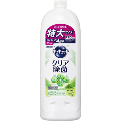 キュキュット クリア除菌 緑茶 つめかえ用 770ml