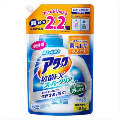 アタック 抗菌EX スーパークリアジェル スパウトパウチ 1.8kg