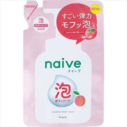 ナイーブ 泡で出てくるボディソープ 桃の葉エキス配合 フルーティフローラルの香り 詰替用 450ml