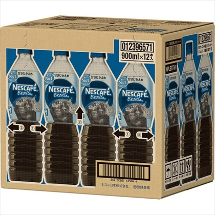 ネスカフェ エクセラ ボトルコーヒー 甘さひかえめ 900ml×12本(1ケース)
