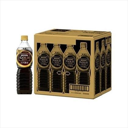 ネスカフェ ゴールドブレンド コク深め ボトルコーヒー 無糖 900ml×12本(1ケース)