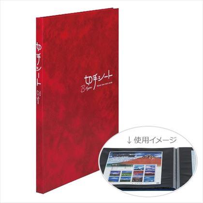 テージー 切手シート用アルバム KB-31N-04 Bタイプ B5 台紙16枚 赤