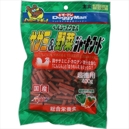 ヘルシーエクセルササミ&野菜ジャーキーフード 400g