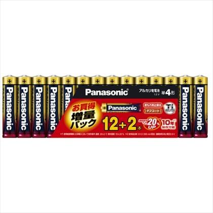 パナソニック 単4形 アルカリ乾電池 12本+2本 限定増量パック