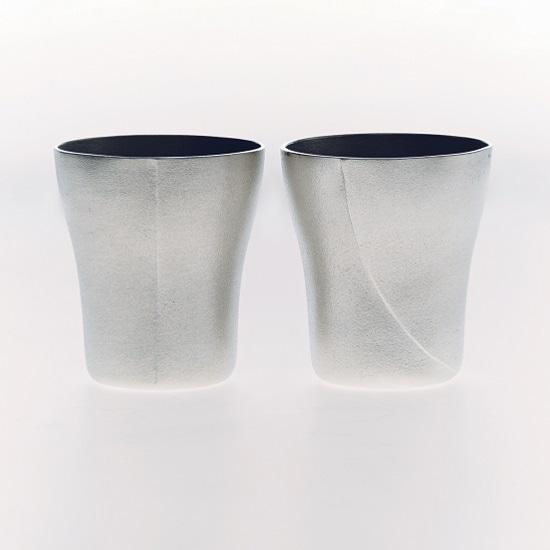 錫のビアカップ キング・クイーンセット