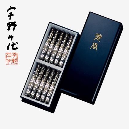 宇野千代のお線香淡墨の桜 短寸10入(塗箱入)