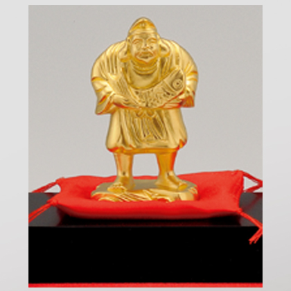 〈光則作〉純金製 吉祥恵比須