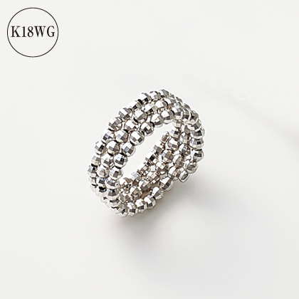 K18WGミラーボールリング