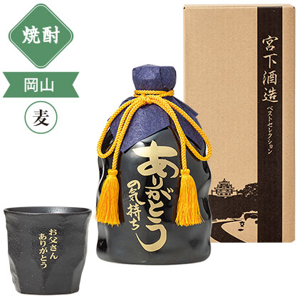 宮下酒造 本格焼酎 オリジナル焼酎グラスセット/焼酎(720ml×1本)
