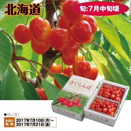 北海道のさくらんぼ(佐藤錦)Lサイズ 300g×2(バラ詰)