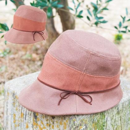 柿渋染め帽子