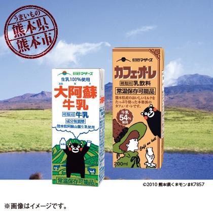 大阿蘇牛乳・カフェオレ詰合せ(24本入)