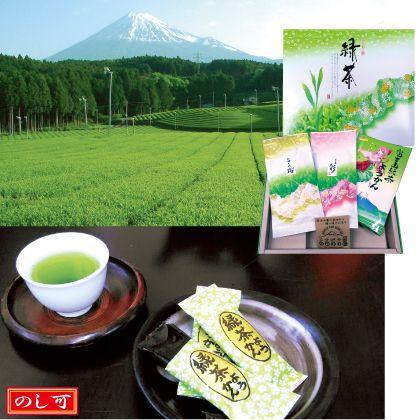 富士のお茶とようかん