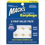 Macks トラベラックス・マックス・シリコンイヤープラグ 6ペア (ホワイト)