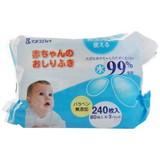 赤ちゃんのおしりふき 80枚入×3パック 水99%使用